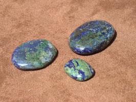 Azurite-malachite en palets roulés