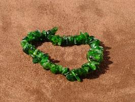 Bracelets en diopside verte baroques