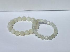 Bracelets en pierre de lune nacrée 9-10 mm