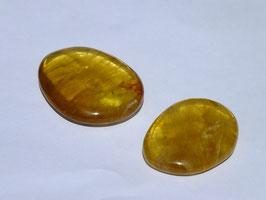 Fluorite jaune en palets roulés