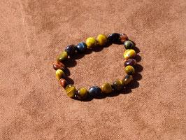 Bracelets en oeil-de-tigre/boeuf/faucon (irréguliers)