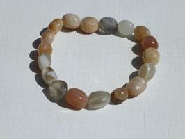 Bracelets en pierre de lune nacrée (irréguliers)