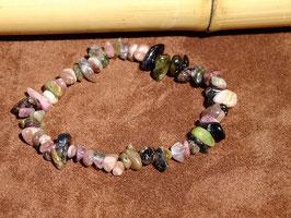 Bracelets baroques en tourmaline multicolore