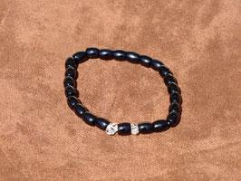 Bracelets en tourmaline noire avec herkimer