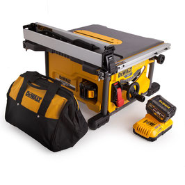 Table Saw Cordless 210 Dewalt - 2 x 6.0Ah Batteries + 2 saw blades for laminated materials