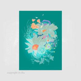 """Postkarte """"Blütenmeer"""""""