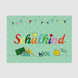 """Postkarte """"Schulkind"""""""