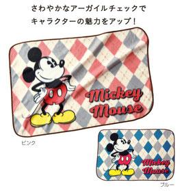 【最安値】ミッキー アーガイル柄ブランケット 298円