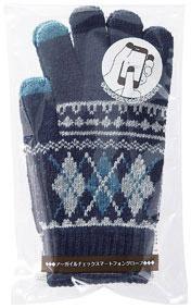 【カートン販売】スマホ手袋 アーガイルチェックスマートフォングローブ【送料無料】