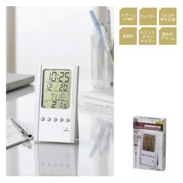 【最安値】LCDカレンダー&クロック 温度計付【名入れ可能】