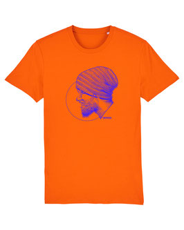T-SHIRT BRIGHTORANGE PORTRAIT ROYAL