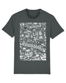 T-SHIRT ANTHRACITE WALL WHITE