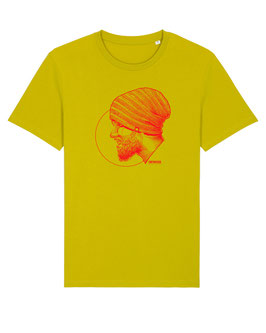 T-SHIRT YELLOW PORTRAIT RED