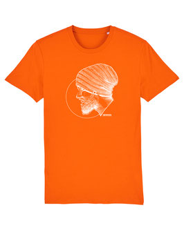 T-SHIRT BRIGHT-ORANGE PORTRAIT WHITE