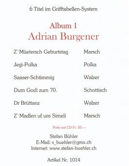 Adrian Burgener  Album 1