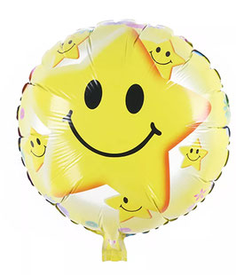 "Folienballon ""Smiley Stern"""