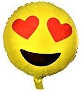 "Folienballon ""Smiley Herzaugen"""