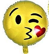 "Folienballon ""Smiley Kussmund"""