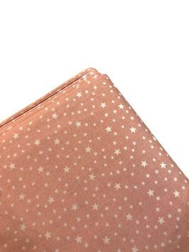 Algodón rosa estrellas blancas