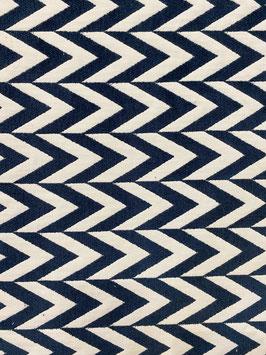 Tapicería geométrica azul marino espiga