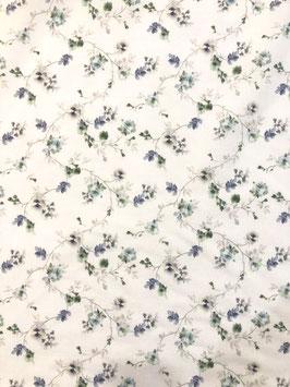 Visillo flores azules y verdes