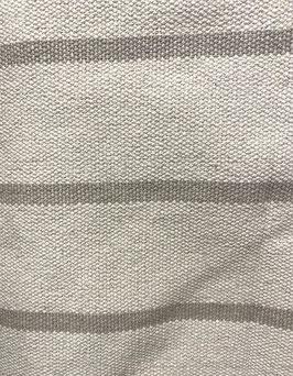 Algodón rústico rayas topo/beige