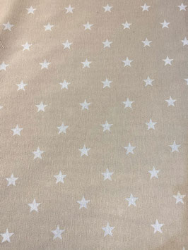 Loneta estrellas color tostado
