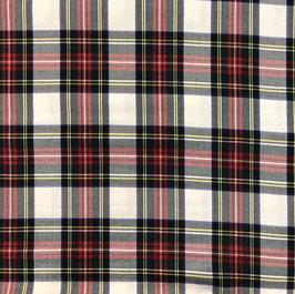 Cuadro escocés fondo blanco