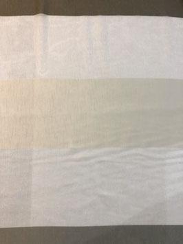 Visillo raya horizontal beige y topo
