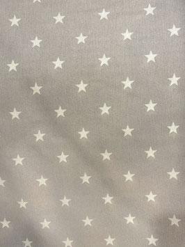 Loneta estrellas color gris plata
