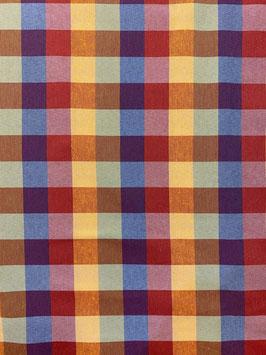 Loneta cuadros multicolor