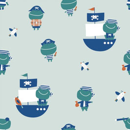 Tela jersey Frog Pirates