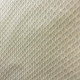 Piqué nido de abeja grande beige/vainilla