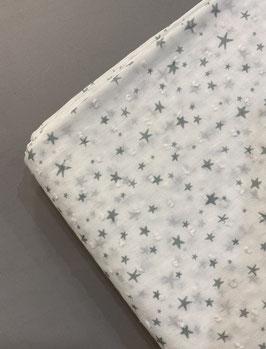 Plumeto blanco estrellas mint