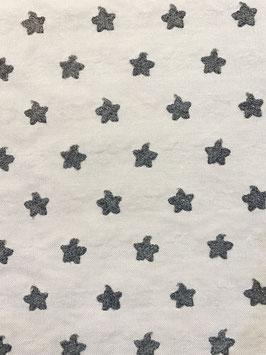 Estrellas bordadas gris