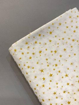 Plumeti blanco estrellas mostaza