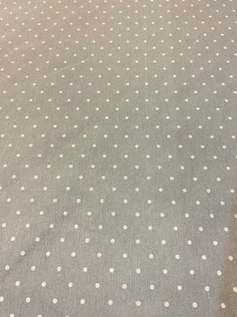 Loneta lunares color gris plata