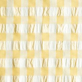 Cuadro seersuker amarillo 2 cm