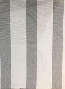 Visillo raya vertical gris claro y blanco