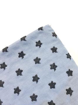 Estrellas bordadas azul