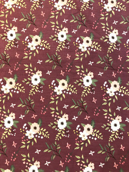 Algodón orgánico flores granate