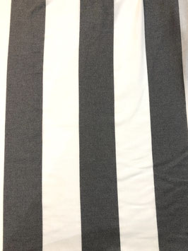 Raya vertical gris oscuro y blanco