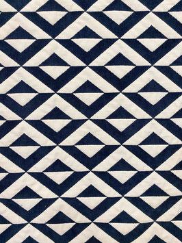 Tapicería geométrica azul marino rombo