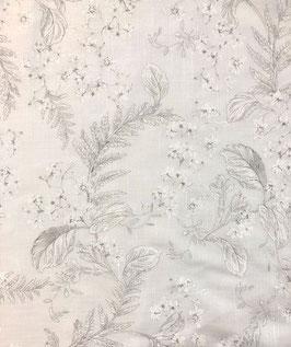 Visillo flores gris