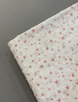 Plumeti blanco estrellas rosas