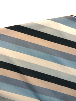 Loneta exterior rayas azules/topo