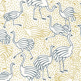 Loneta gold ostrich