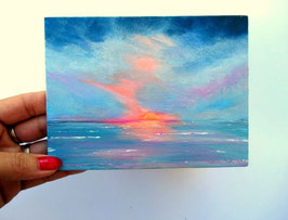 vendu  Sunset 18x12cm
