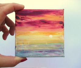 vendu  Sunset  10x10 cm