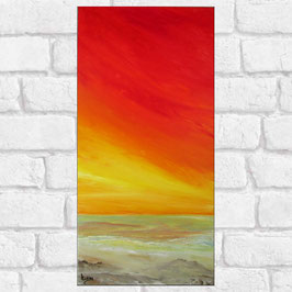 """Tableau paysage marin """"Summer II""""  30x60 cm"""